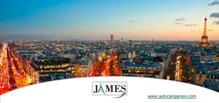 Panorama sur la ville de Paris depuis l'Arc de Triomphe